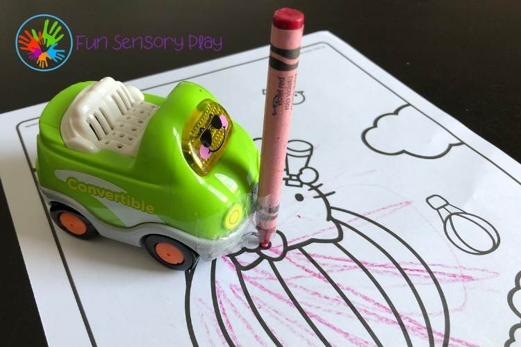 Drawing with cars activity for kids