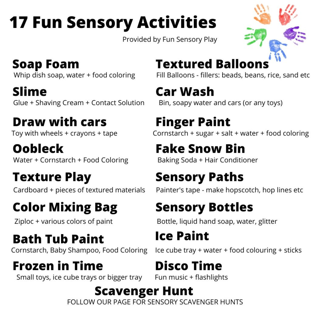 Easy Sensory Activities for Toddlers and Preschoolers