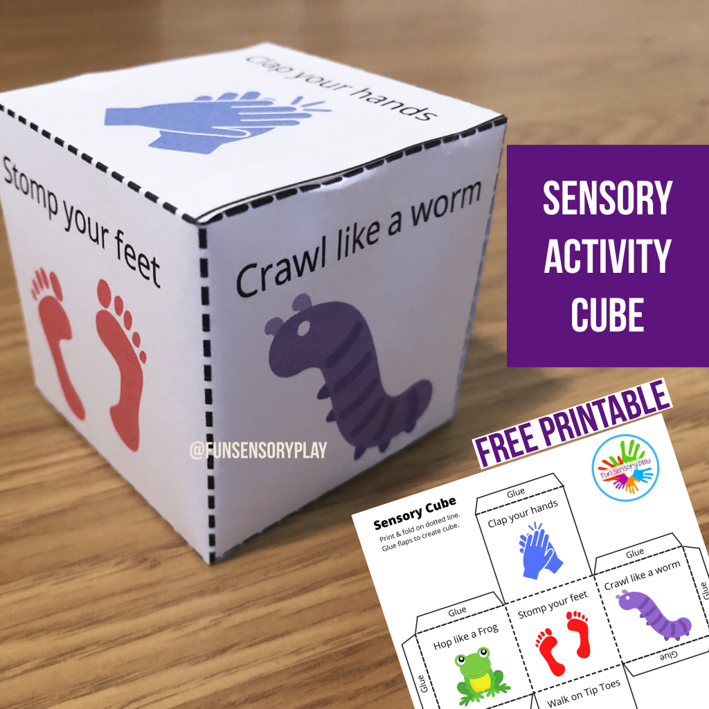 sensory activity for toddlers and preschoolers activity cube
