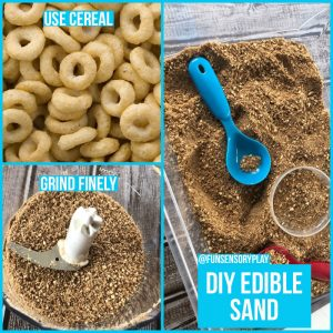 Taste Safe Sand for Sensory Play