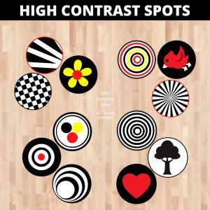 high contrast baby images floor decals