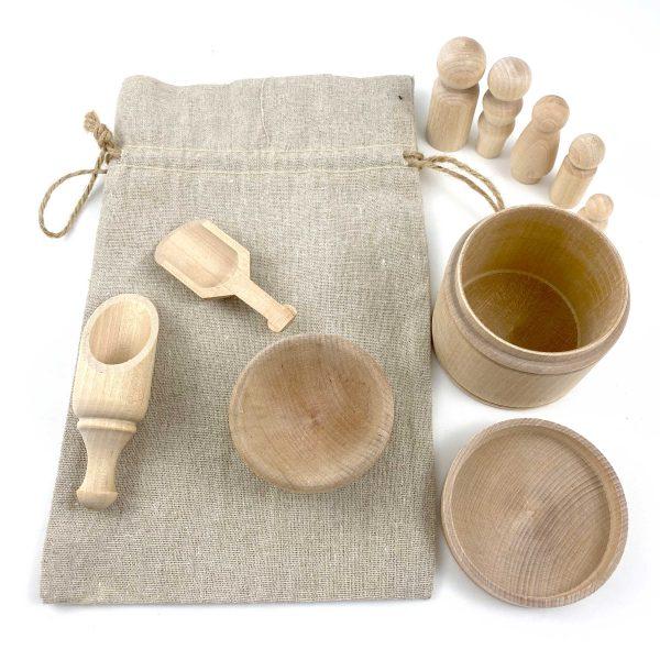 Montessori Sensory Wooden Small Tool Kit