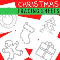 Christmas Tracing Pictures Printable