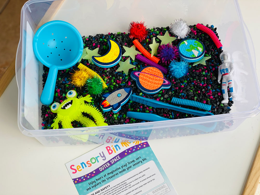 Creativity for Kids Sensory Bin Outer Space