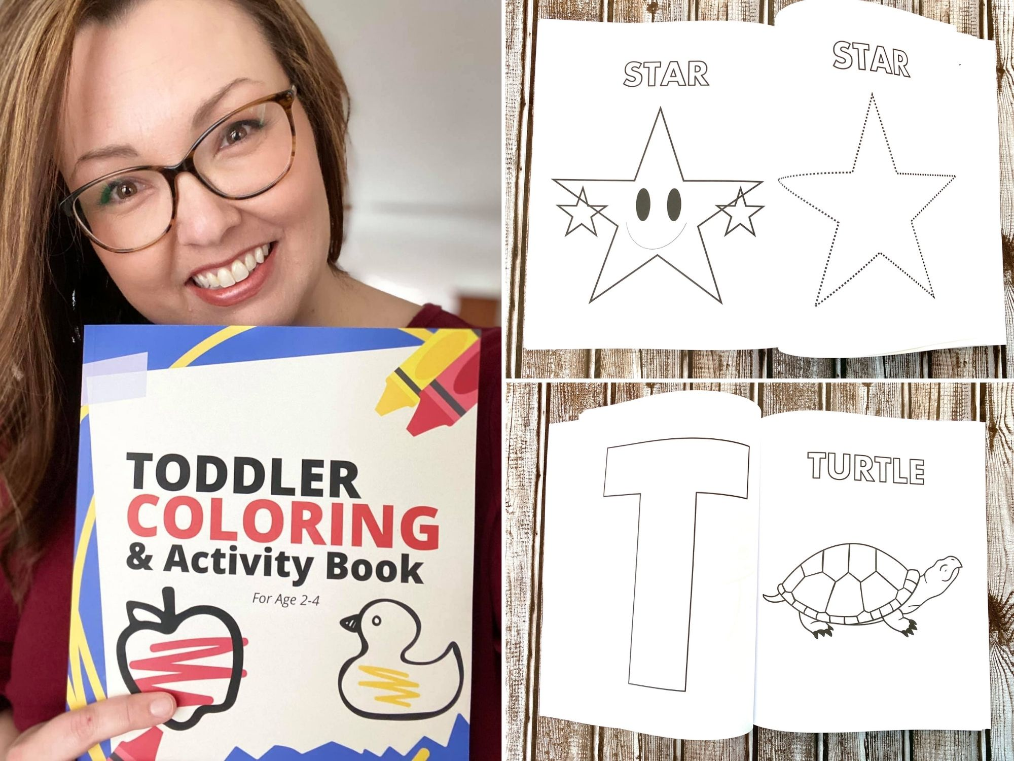 Toddler Coloring and Activity Book