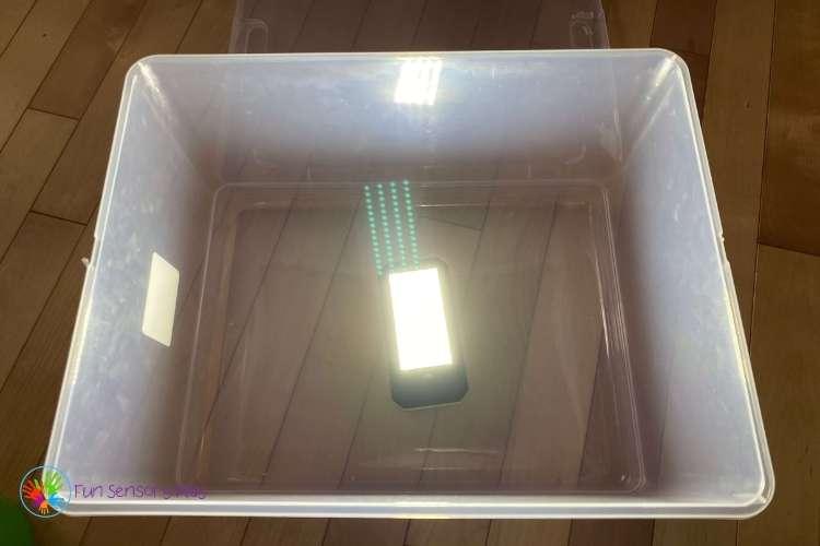 Make a light box sensory lighting