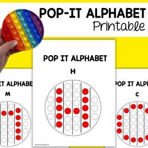 Pop It Round Alphabet Printable