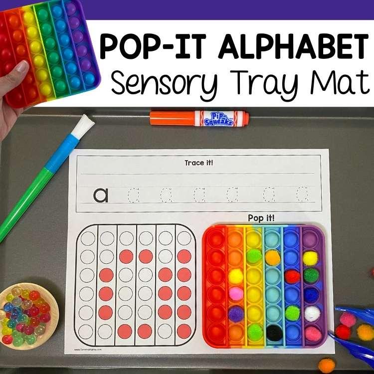 Pop It Learning Activity Alphabet