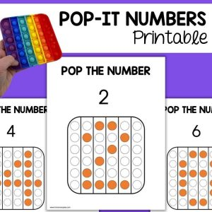 Pop It Printable Learn Numbers