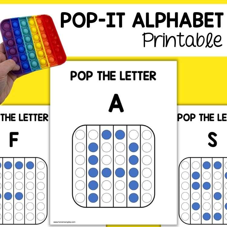 Pop It Learning Activity