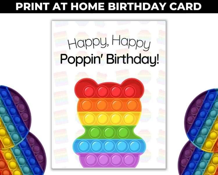 Pop It Birthday Card