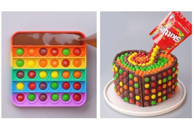 Pop It Birthday Cake