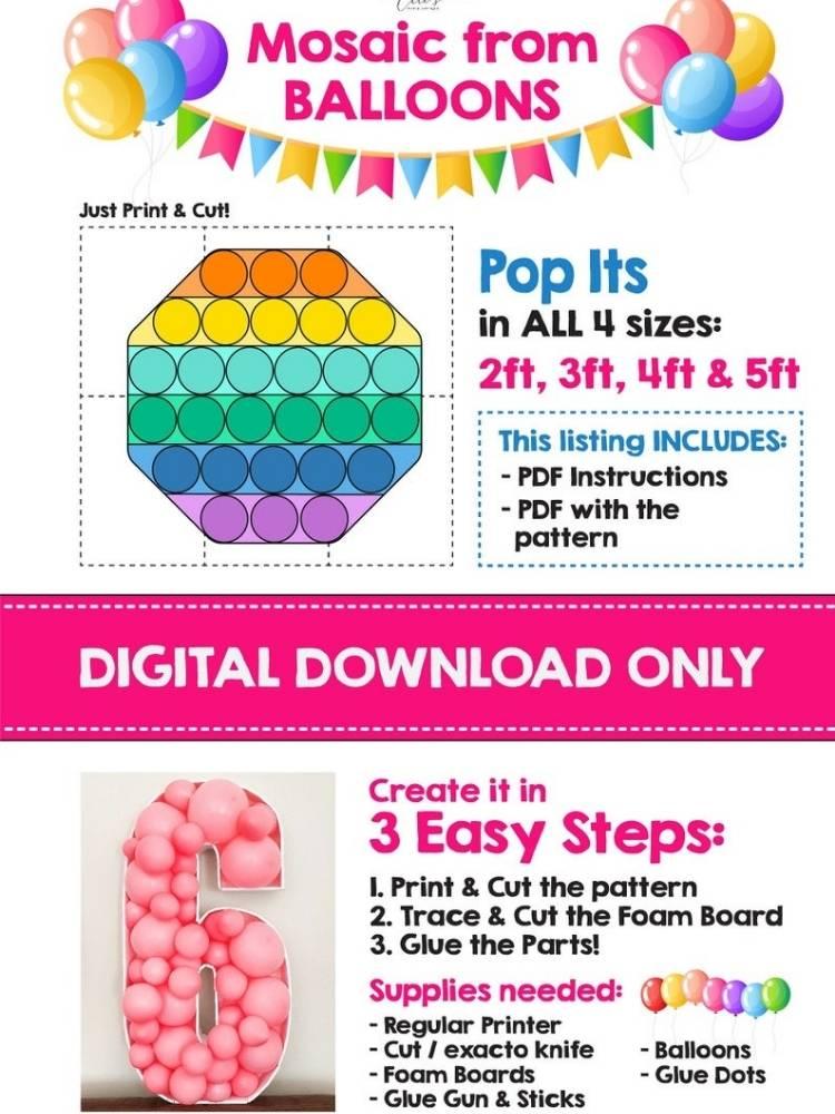 Pop It Birthday Party Balloons