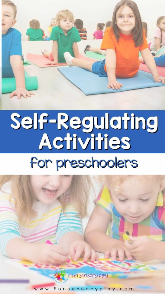 self regulating activities for preschoolers and kindergarteners