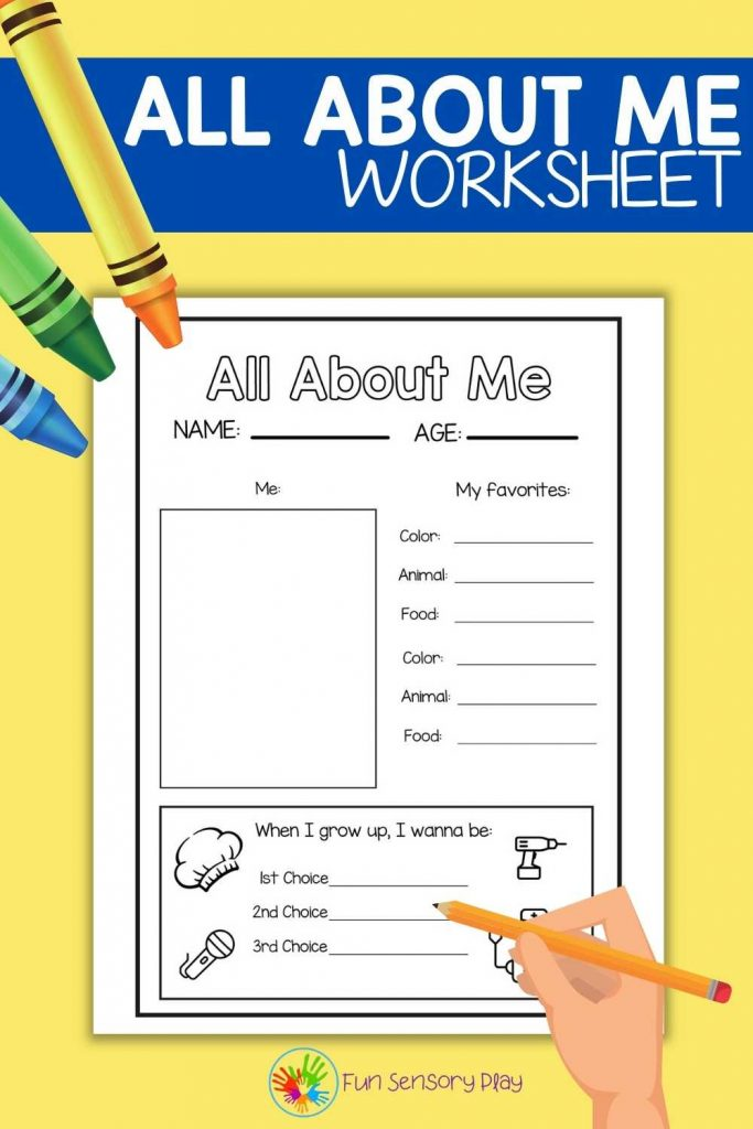 All About Me Free Worksheet Printable